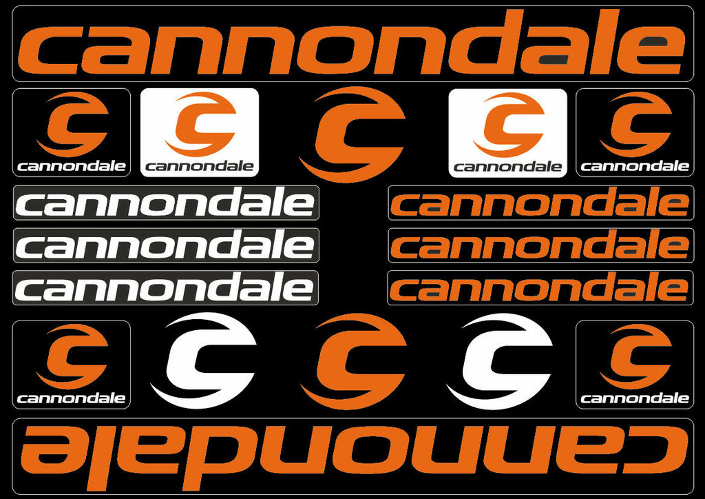 cannondale sticker  Cannondale Bicycle Frame Decals Stickers Graphic Adhesive Set Vinyl ...