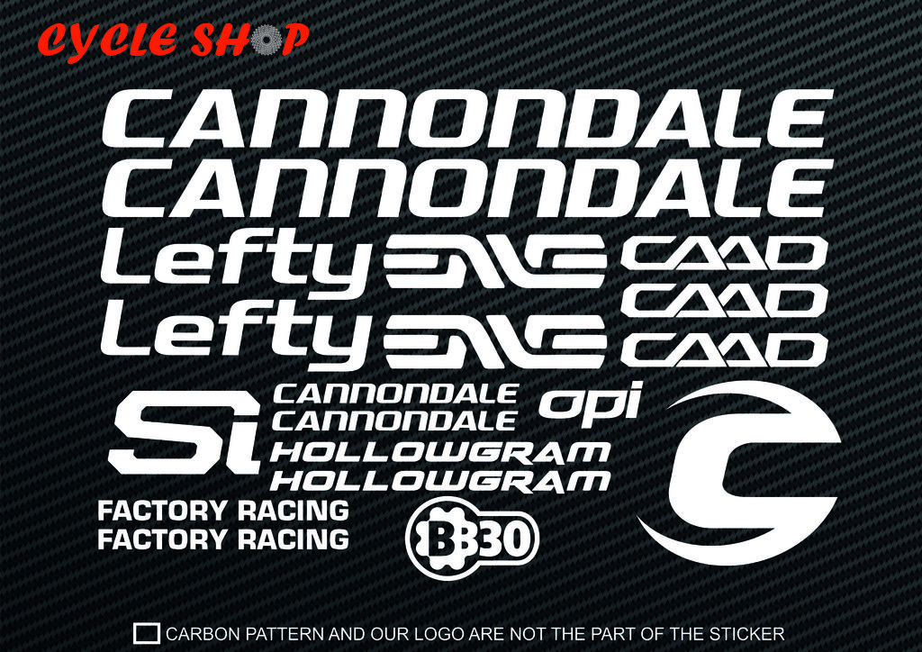cannondale sticker  Cannondale Bicycle Bike Cycling MTB Road Frame Decal Decals Stickers ...
