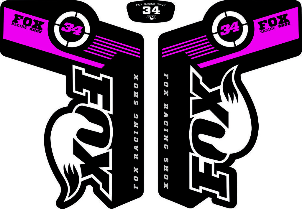 FOX Float DPX2 Rear Shock Suspension Sticker Factory Decal Kit Adhesive Purple