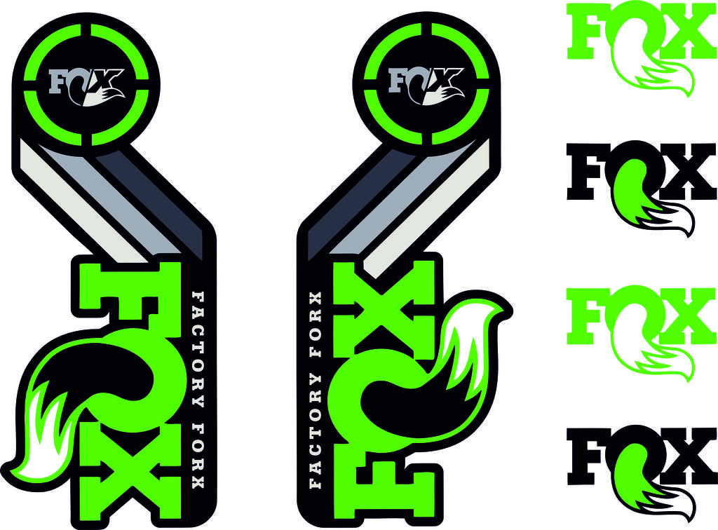 2015 Fox Factory Fork Decal Set Lime Green