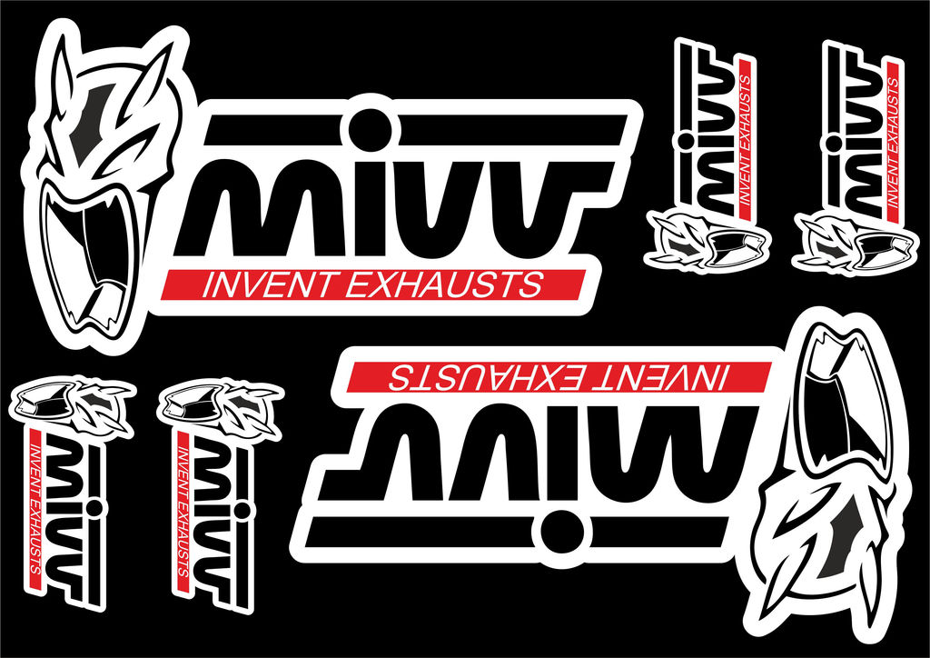 Details about Mivv Decals Stickers for Exhaust Muffler Graphic Set Vinyl  Adhesive 6 Pcs