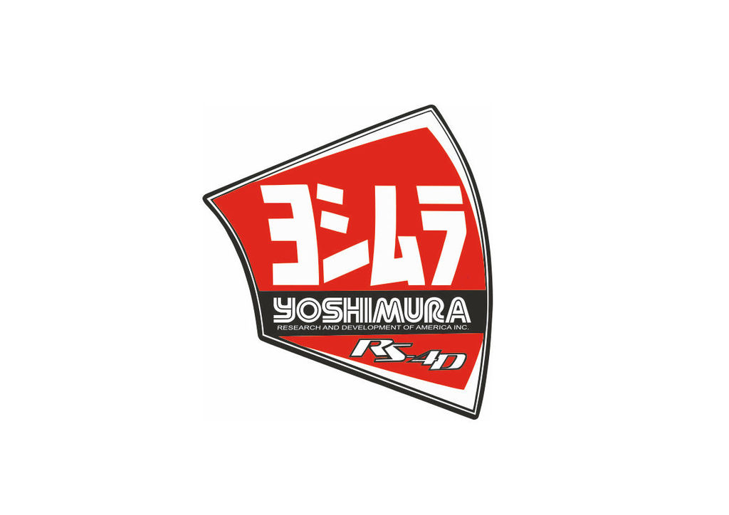 Details about Yoshimura NEW Exhaust Muffler Decal RS-4D Replacement End Cap  Sticker