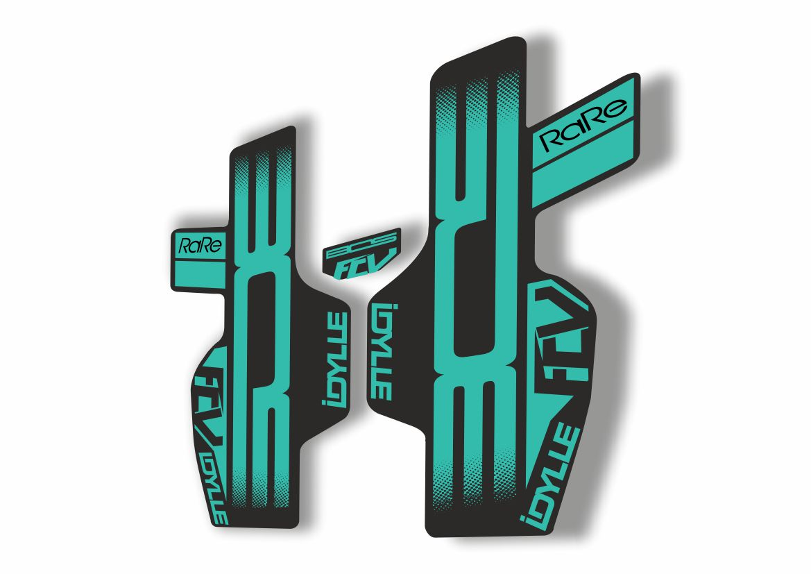 BOS Deville Rare Fcv Fork Sticker for Mountain Bike Bicycle MTB Cycling Decal