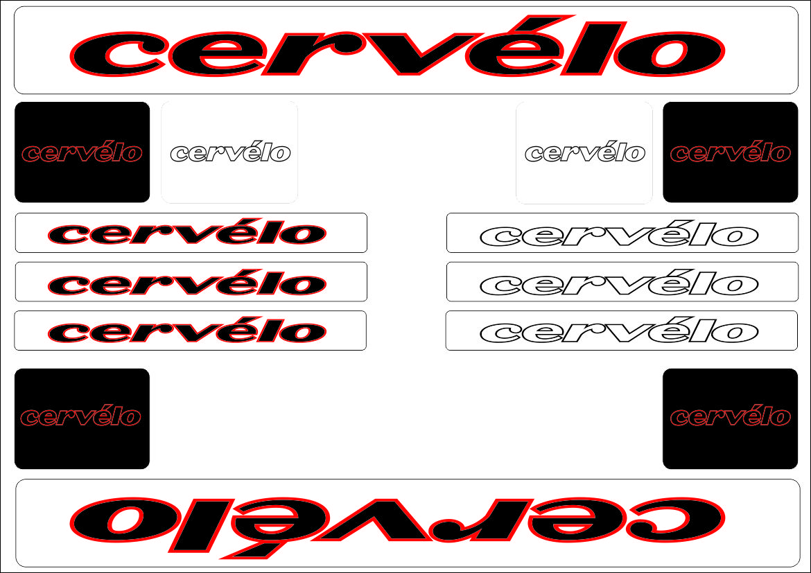 CERVELO Bike Bicycle Frame Decals Stickers Graphic Adhesive Set Vinyl Blue
