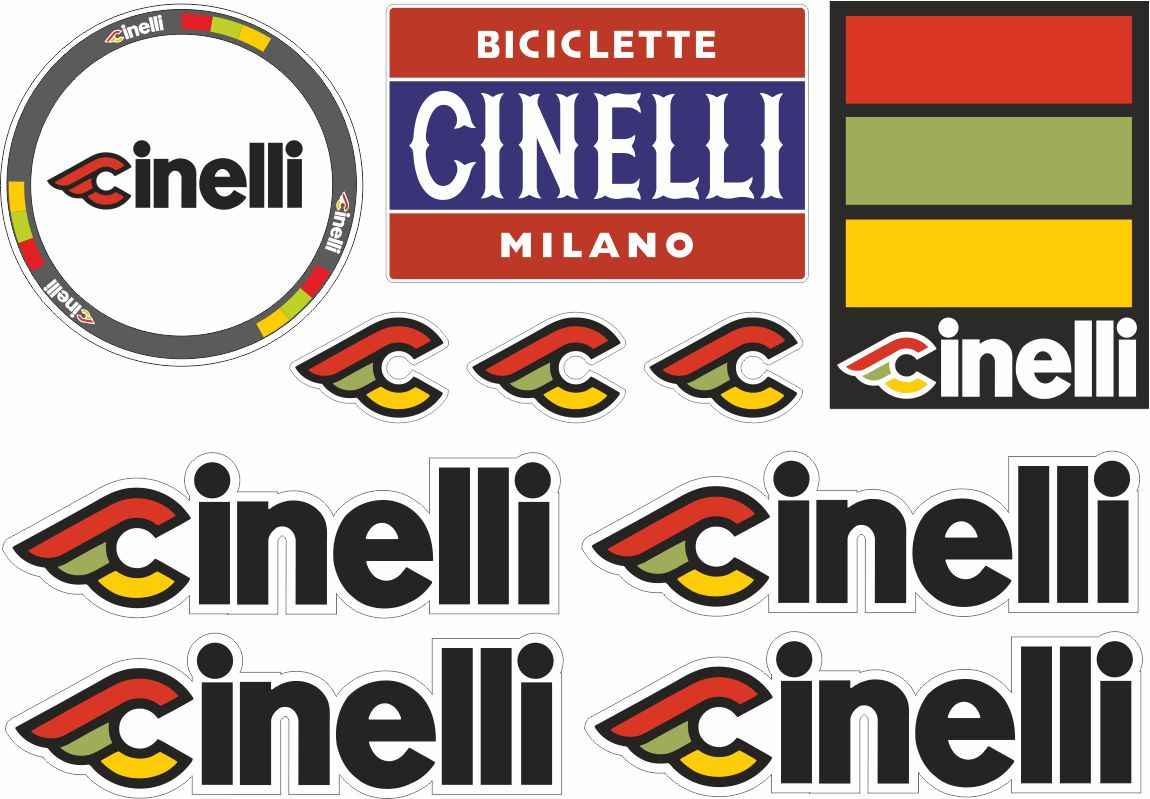 CINELLI MASH Bicycle Bike Frame Decal Sticker Adhesive Set Vinyl Sheet Aufkleber