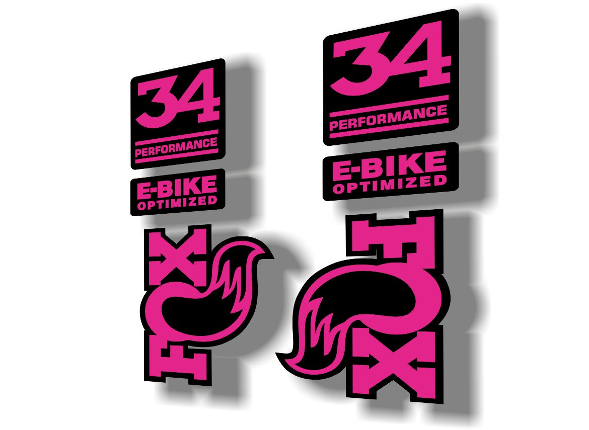 FOX 32 Rhythm 2019 Forks Suspension Factory Decal Sticker Adhesive Pink