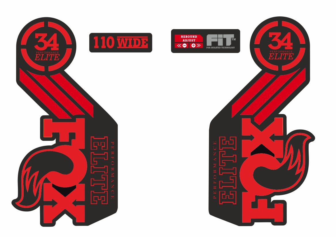 Suspension Factory Style Decal Kit Sticker Adhesive Set Red FOX 36 Forks