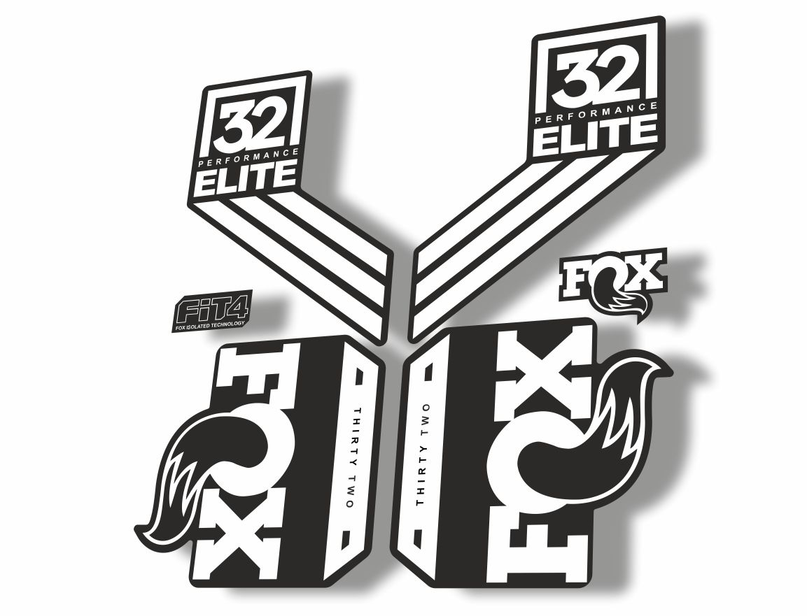 FOX 32 Elite Performance 2017-18 Fork Suspension Factory Decal Stickers White