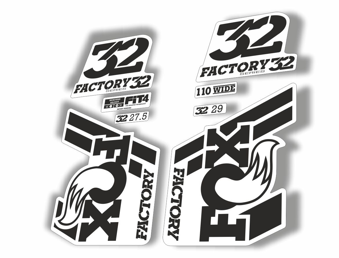 FOX 34 Float 2018-19 Forks Suspension Factory Decal Sticker Adhesive Olive Gray