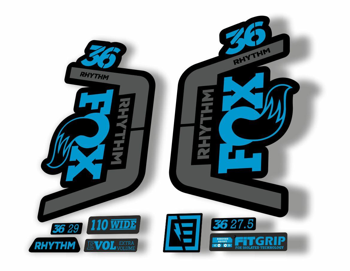 Fox Factory 36 Fork Decals Stickers Soft Bronze//grey//black