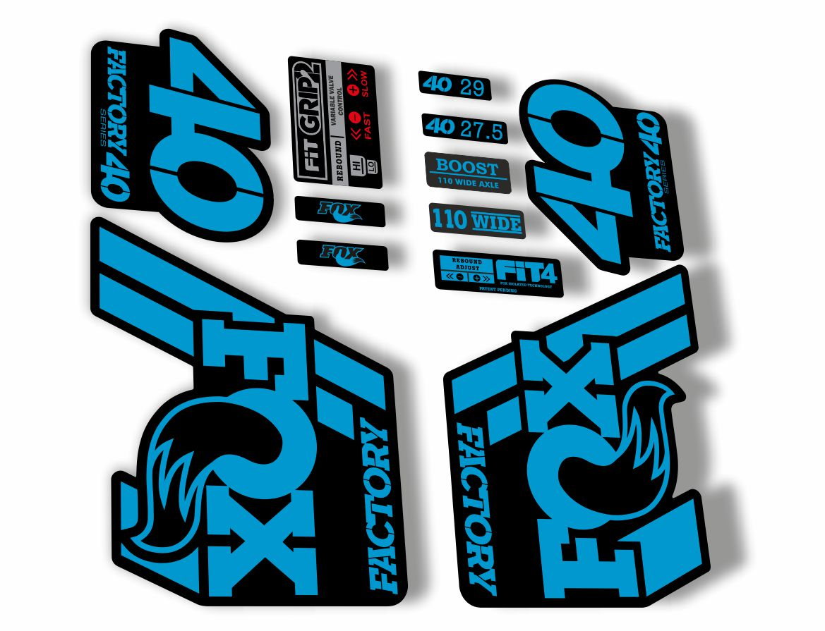 FOX 34 Float 2018-19 Forks Suspension Factory Decals Stickers Adhesive Blue