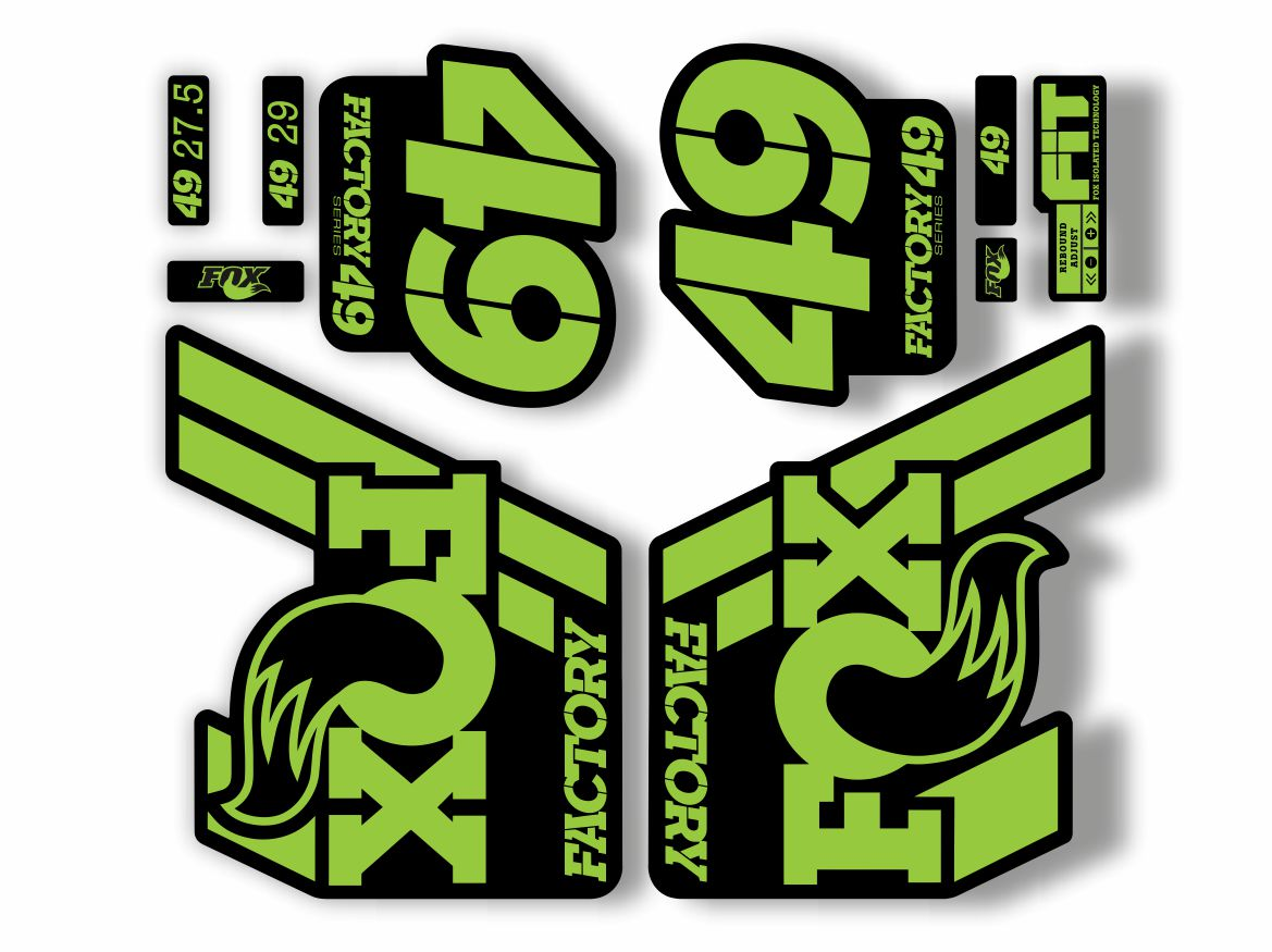 FOX 49 Float 2018-19 Forks Suspension Factory Decal Sticker Adhesive Green