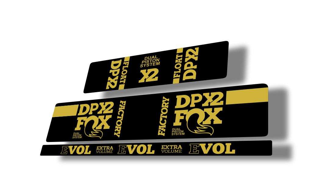 FOX Float DPX2 Rear Shock Suspension Sticker Factory Decal Kit Adhesive Dolphin