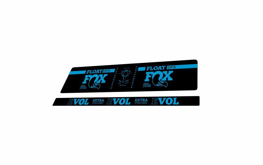 FOX DPS Float EVOL Performance 2018 Rear Shock Sticker Factory Decal Blue