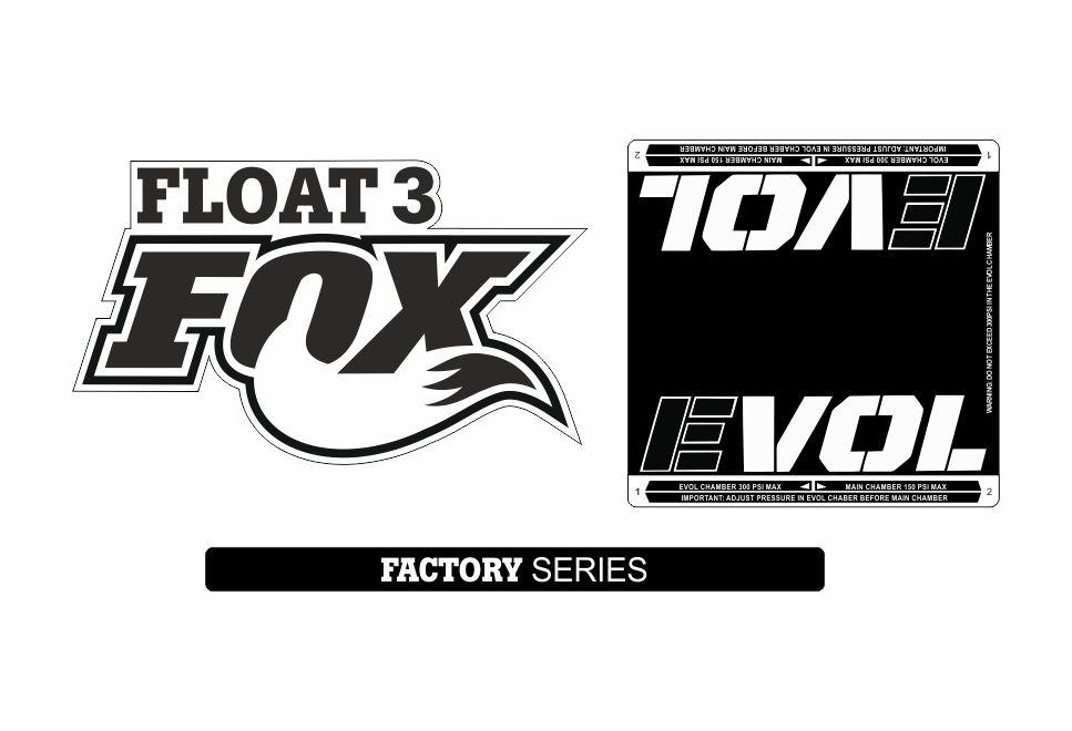 FOX Float 2016-17 DPS Rear Shock Suspension Factory Decal Sticker White