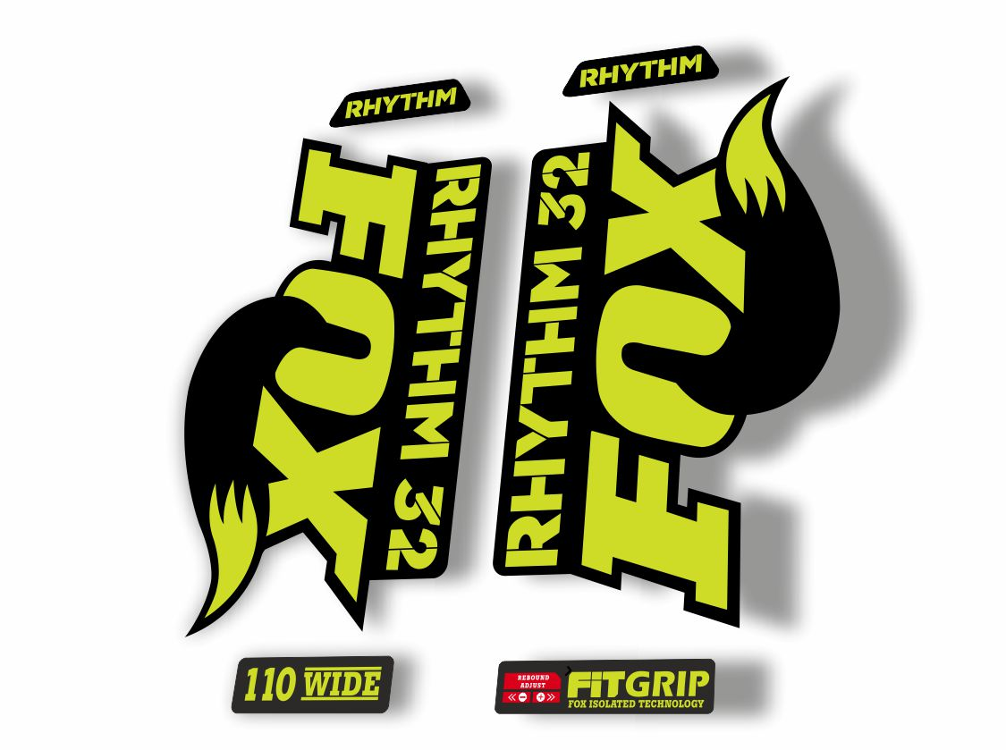 FOX 32 Rhythm 2018 Forks Suspension Factory Decal Sticker Adhesive Lime Green