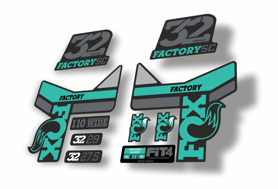 FOX 32 Step Cast SC Forks Suspension Factory Decals Stickers Adhesive Colorful