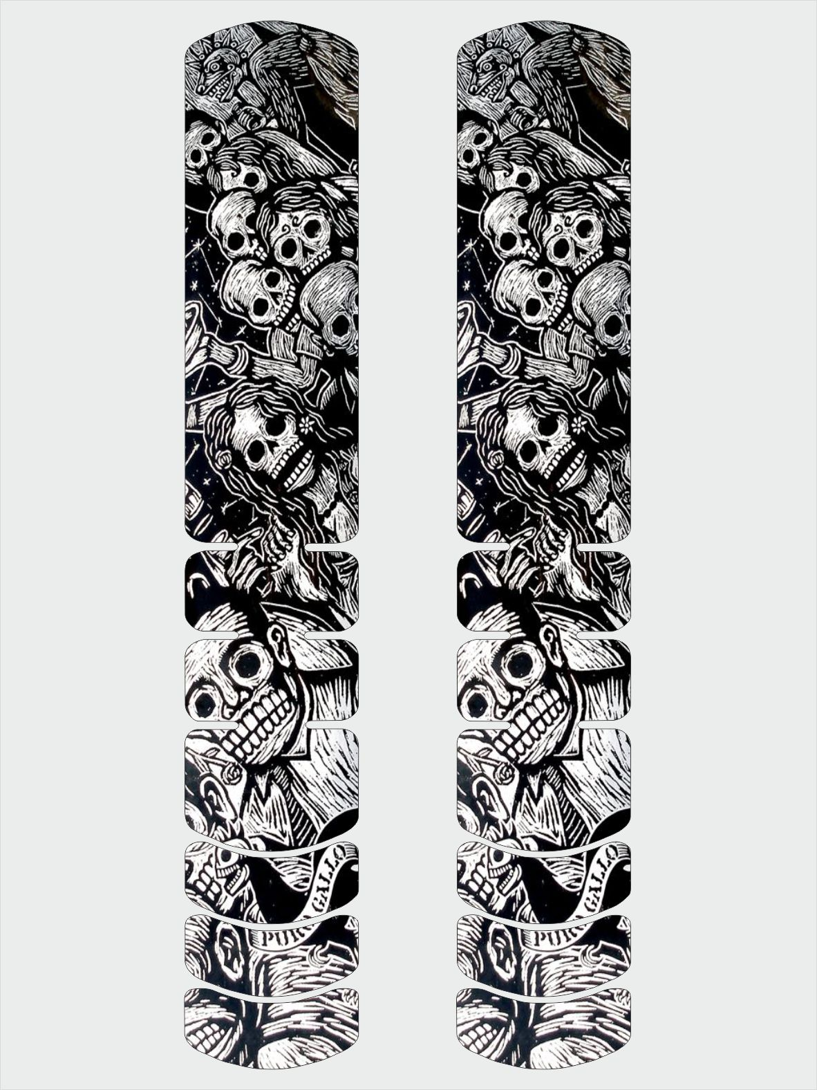 Frame Protector Illustrated Adhesive Sticker Large Bicycle Decal Skull 1 Theme