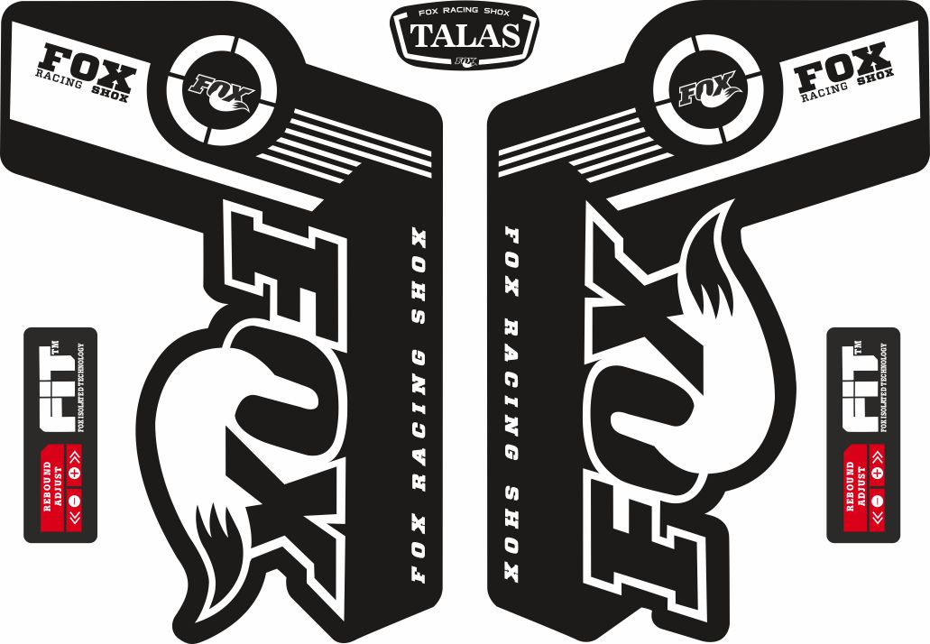 FOX TALAS Forks Suspension Factory Style Decal Kit Sticker Adhesive Set Gray