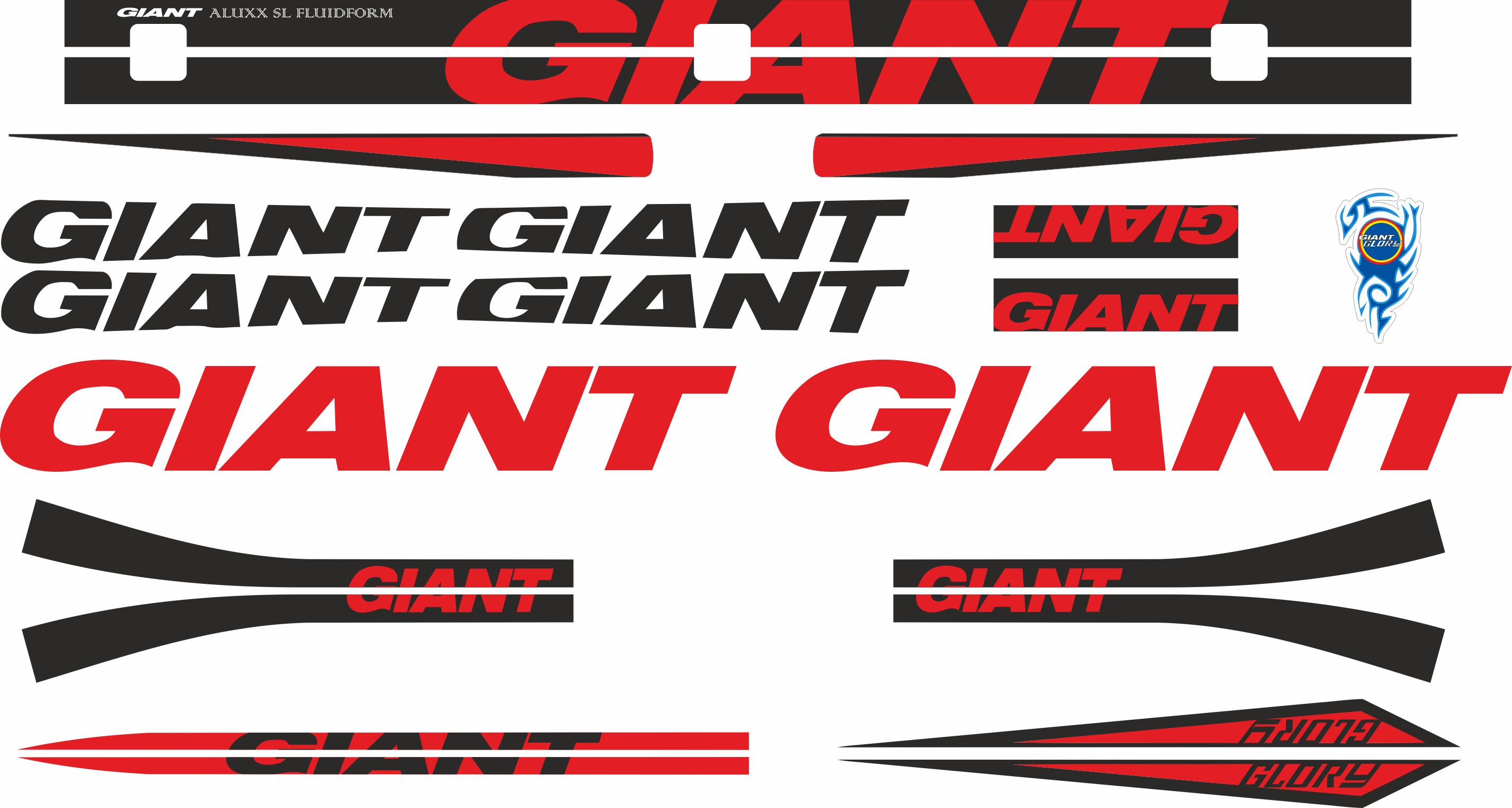 Details about giant glory frame stickers factory decal adhesive graphic vinyl set red