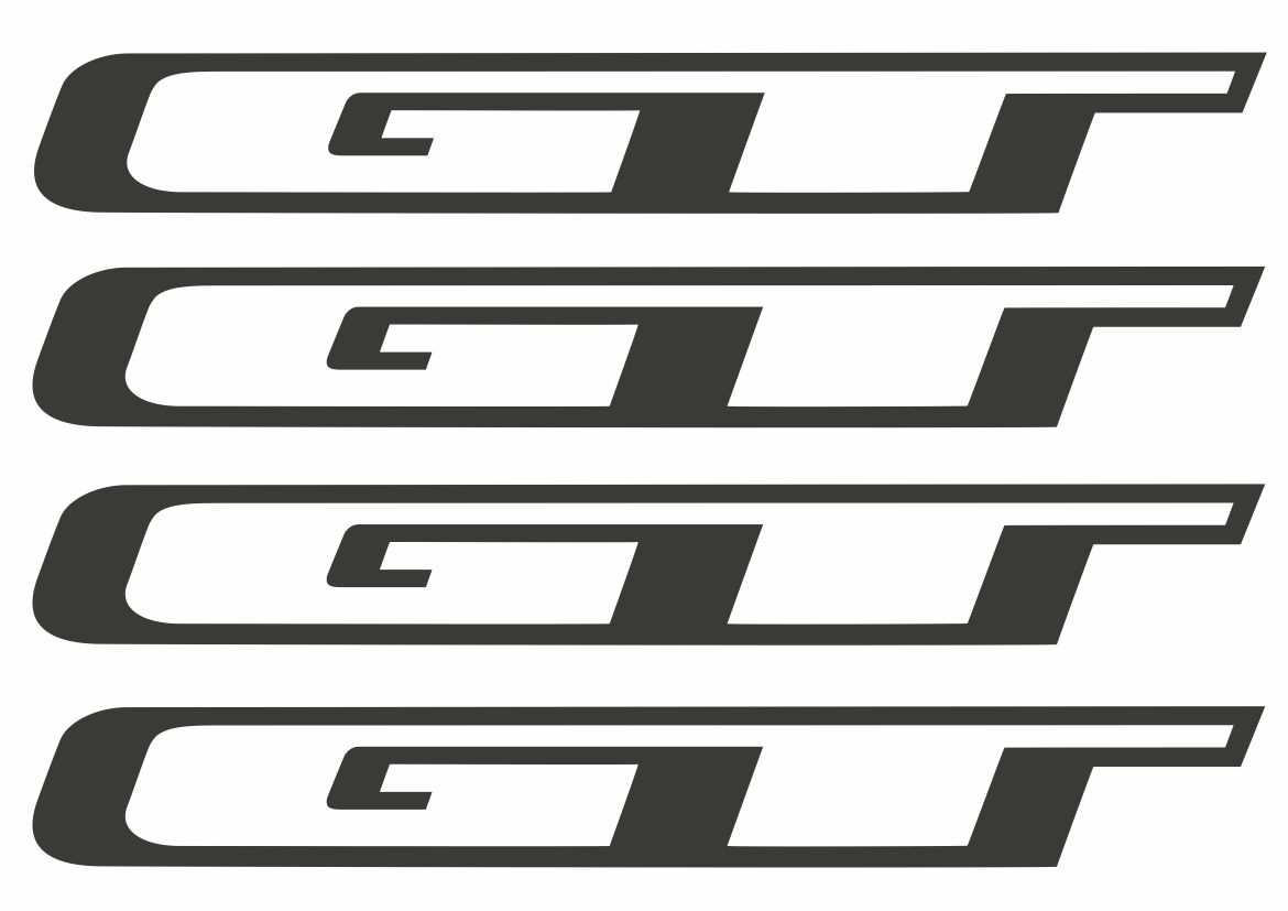 GT Bicycle Frame Stickers Vinyl Logo Decals Graphic Set Adhesive 5 Pcs Yellow