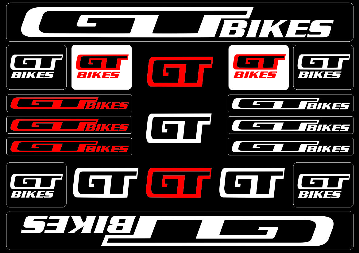 Details about gt bicycle bike frame decals stickers adhesive graphic set vinyl white