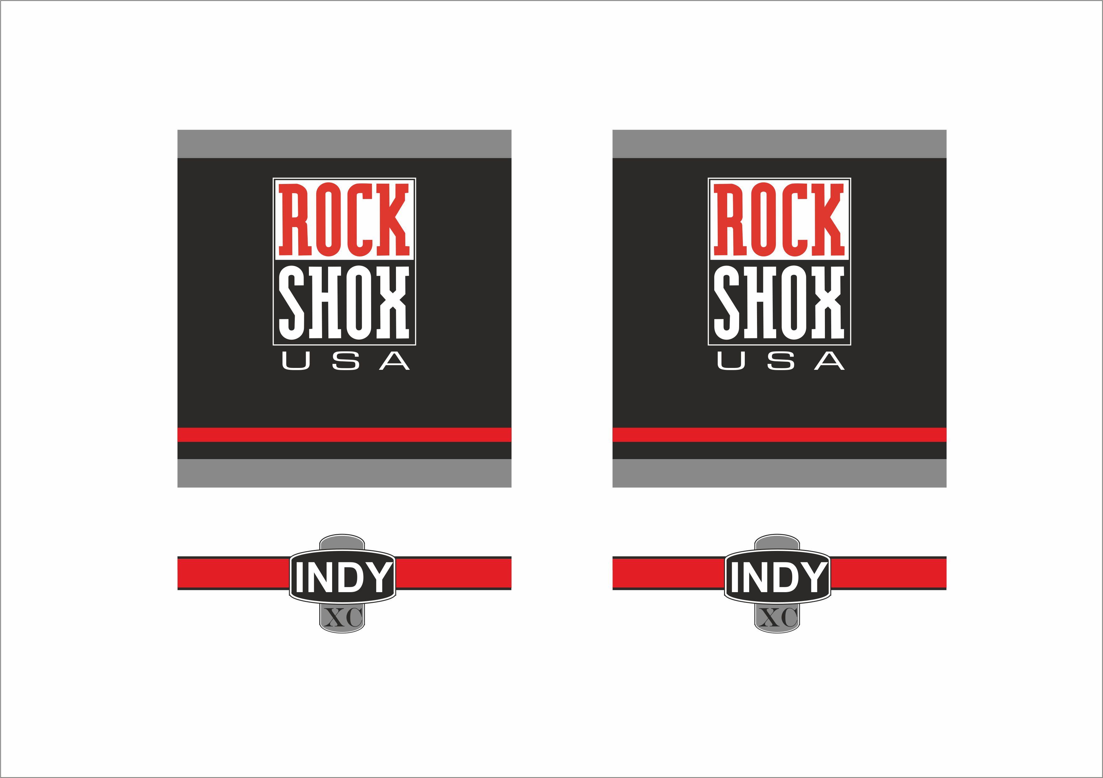 Decal Set ROCKSHOX Indy C 1997 Fork Sticker