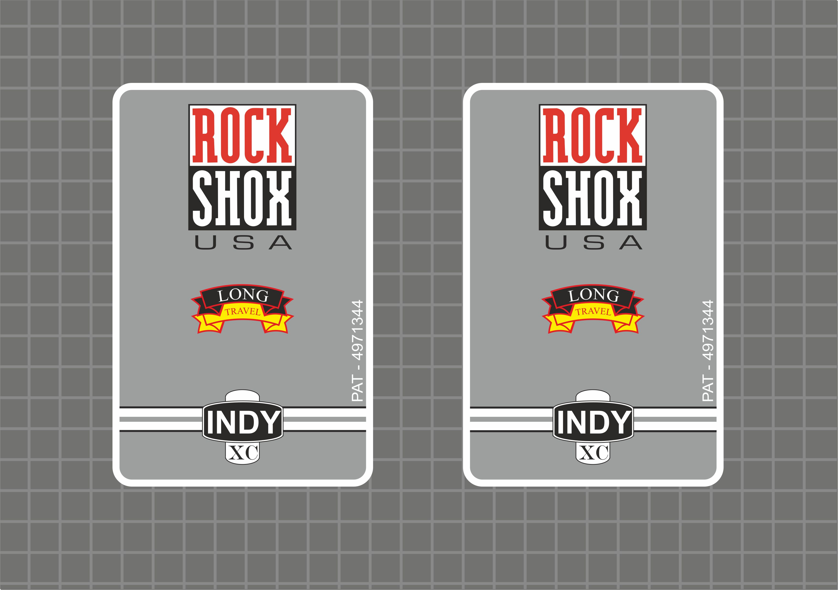 Rock Shox INDY C 1997 Forks Decals Stickers Graphic Set Vinyl Logo Adhesive