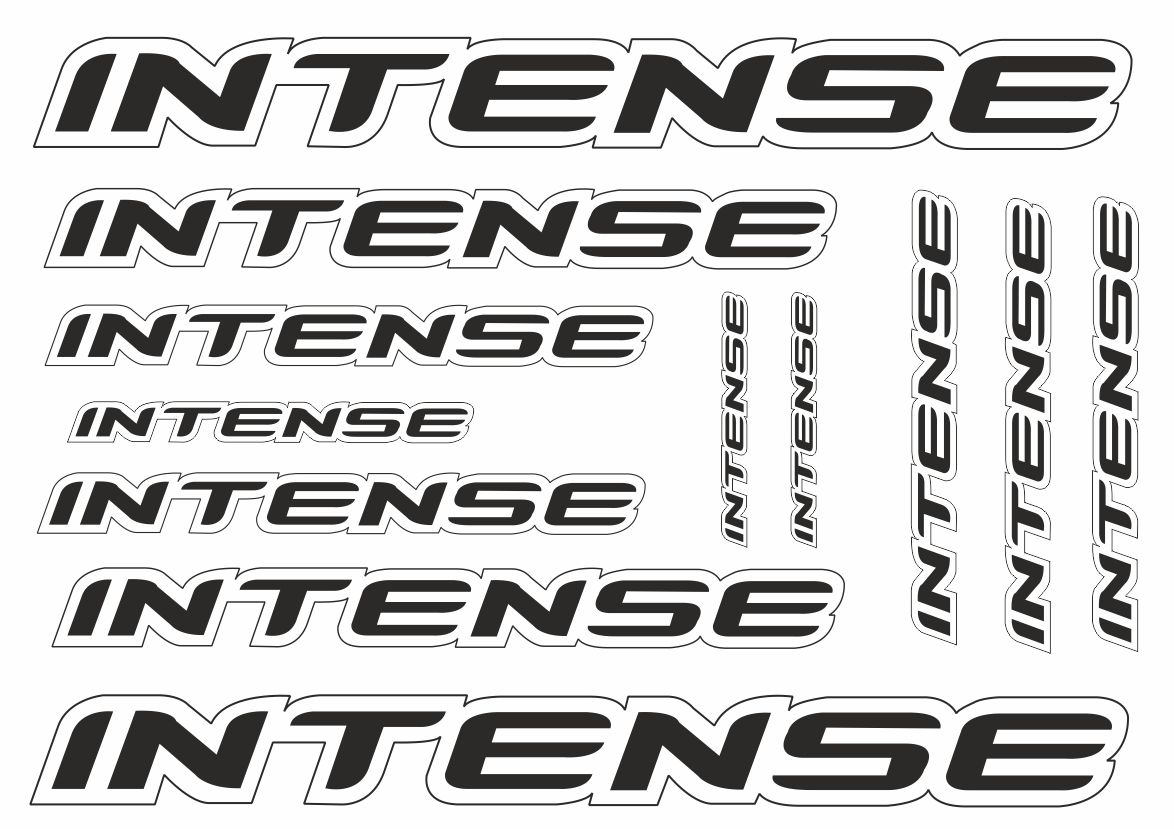 Intense Vinyl Decals Stickers Sheet Bike Frame Cycle Cycling Bicycle Mtb Road