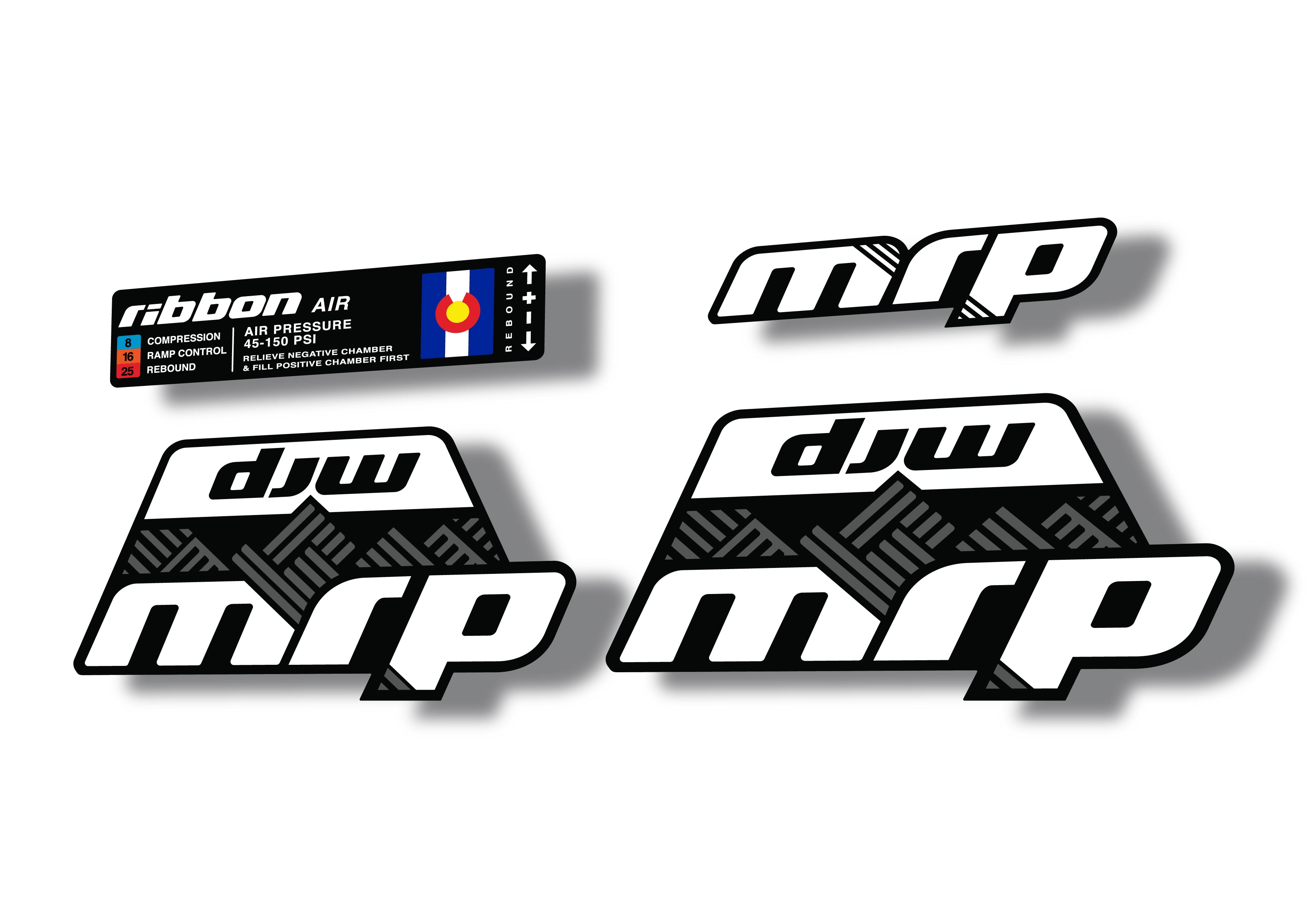 MRP Ribbon Air 2020 Fork Suspension Factory Decal Sticker Adhesive Gray