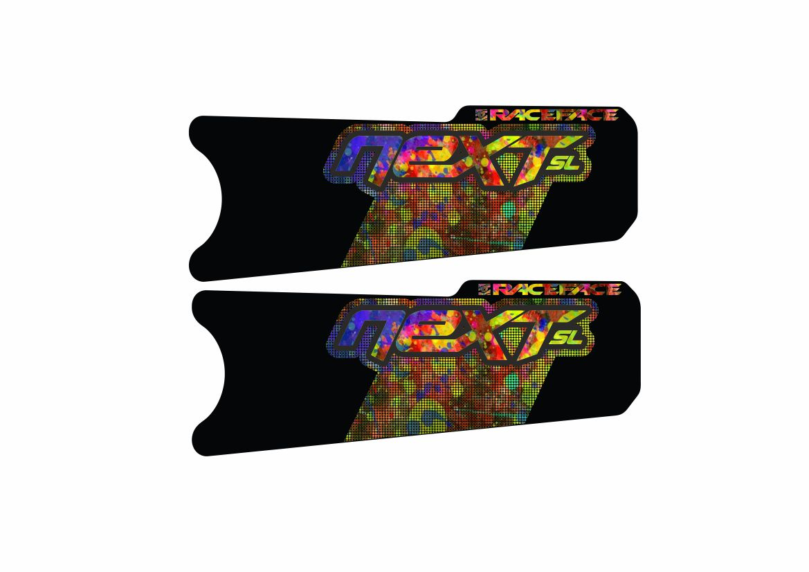 Race Face Next SL Crank Decals Set Sticker Mountain Bike Adhesive Oil Slick 2Pcs