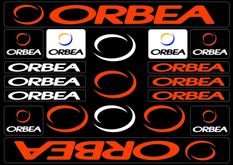 Orbea Bicycle Bike Frame Decals Sticker Adhesive Graphic Vinyl Aufkleber Orange