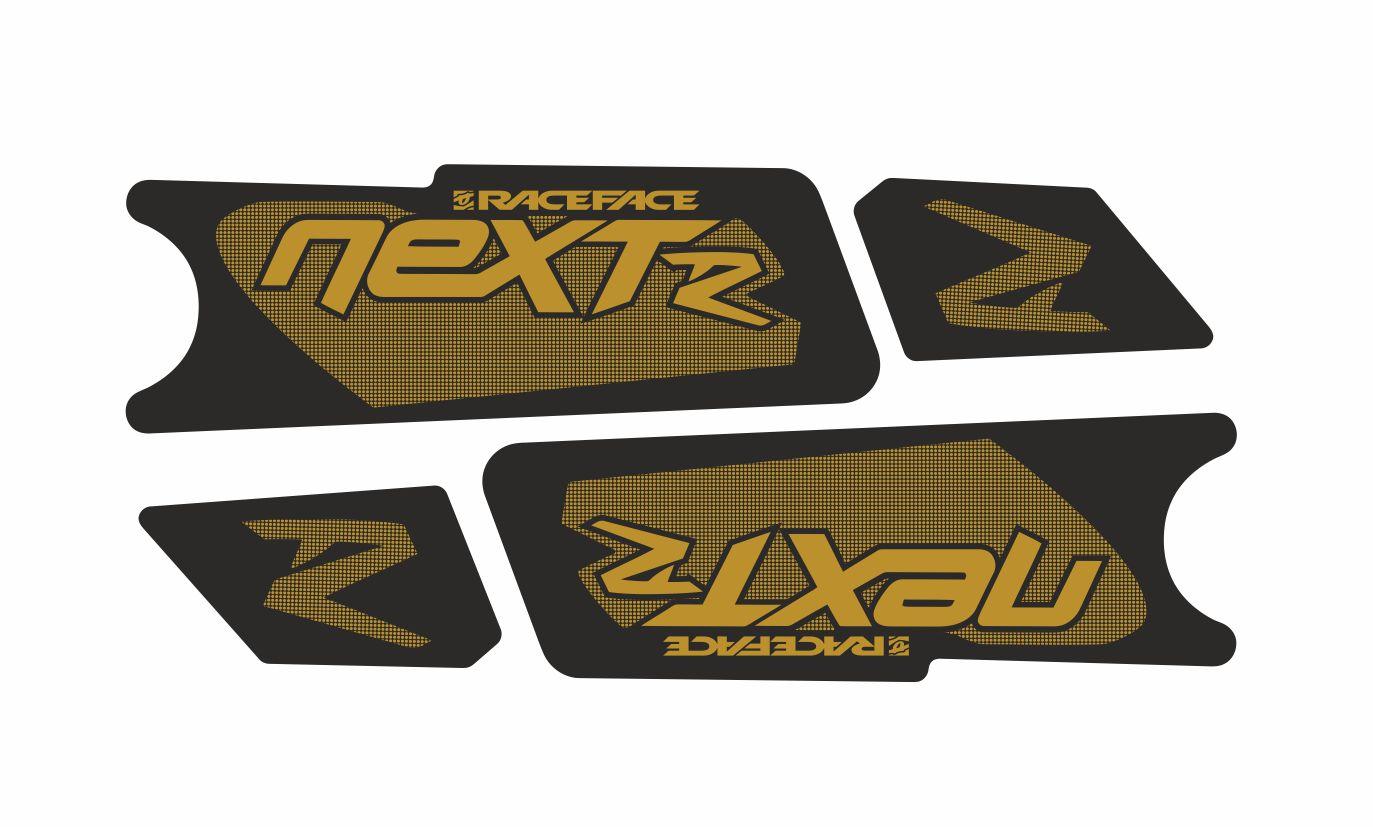 Race Face NextR Crank Decals Set Stickers Mountain Bike Adhesive Gold