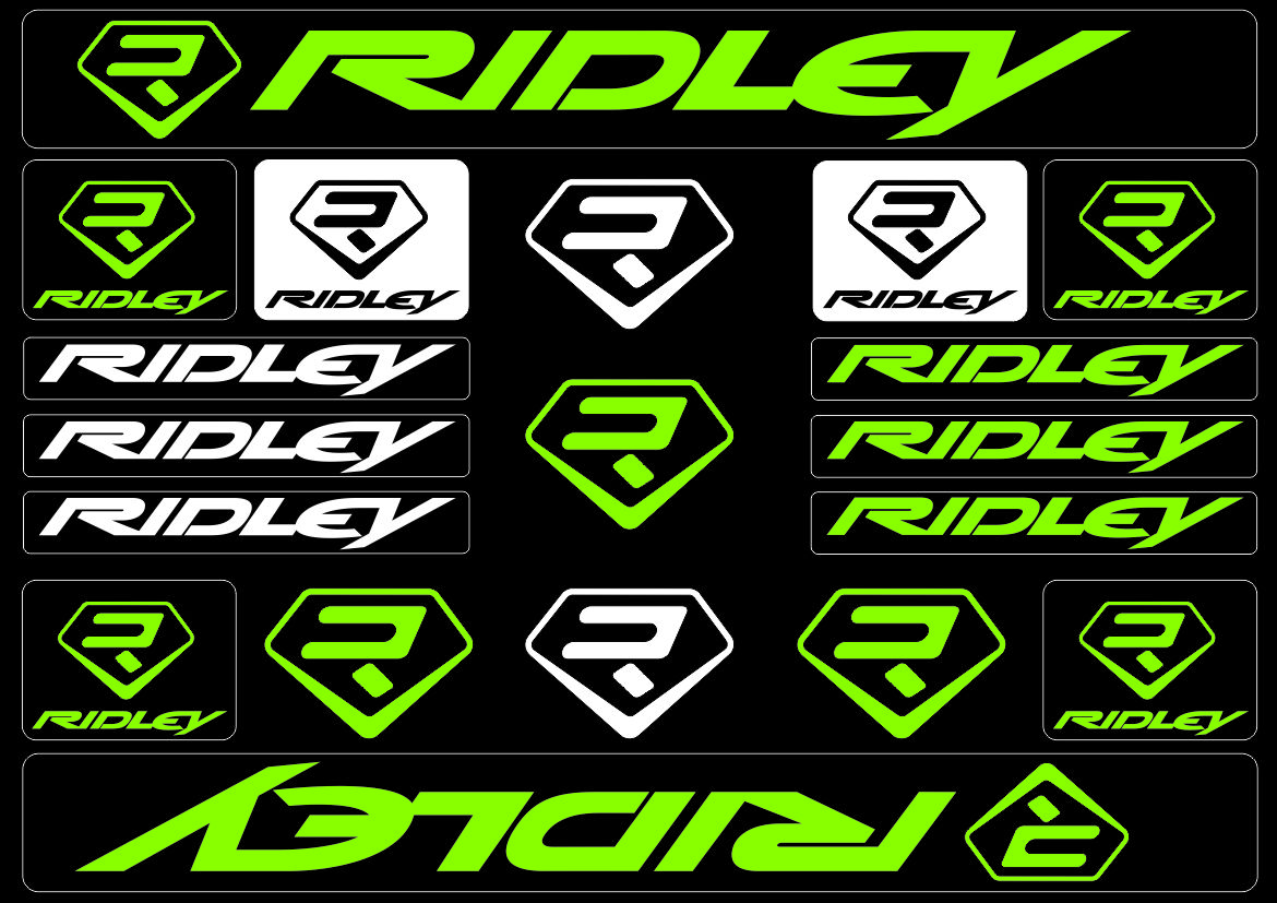 Colnago Bicycle Bike Frame Decals Stickers Adhesive Graphic Set Vinyl Green