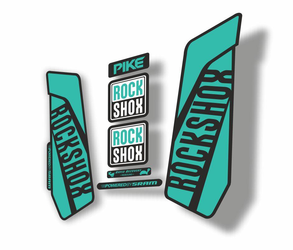 Rock Shox RECON 2018 Mountain Bike Cycling Decal Kit Sticker Adhesive Dolphin