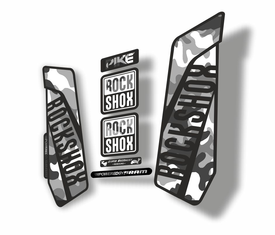 Rock Shox REVELATION 2013 Mountain Bike Cycling Decal Kit Sticker Adhesive Camo