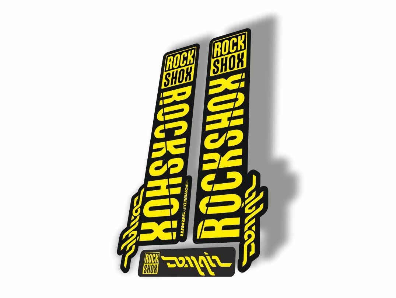 Rock Shox DOMAIN 2018 Fork Decal Mountain Bike Cycling Sticker Adhesive Yellow