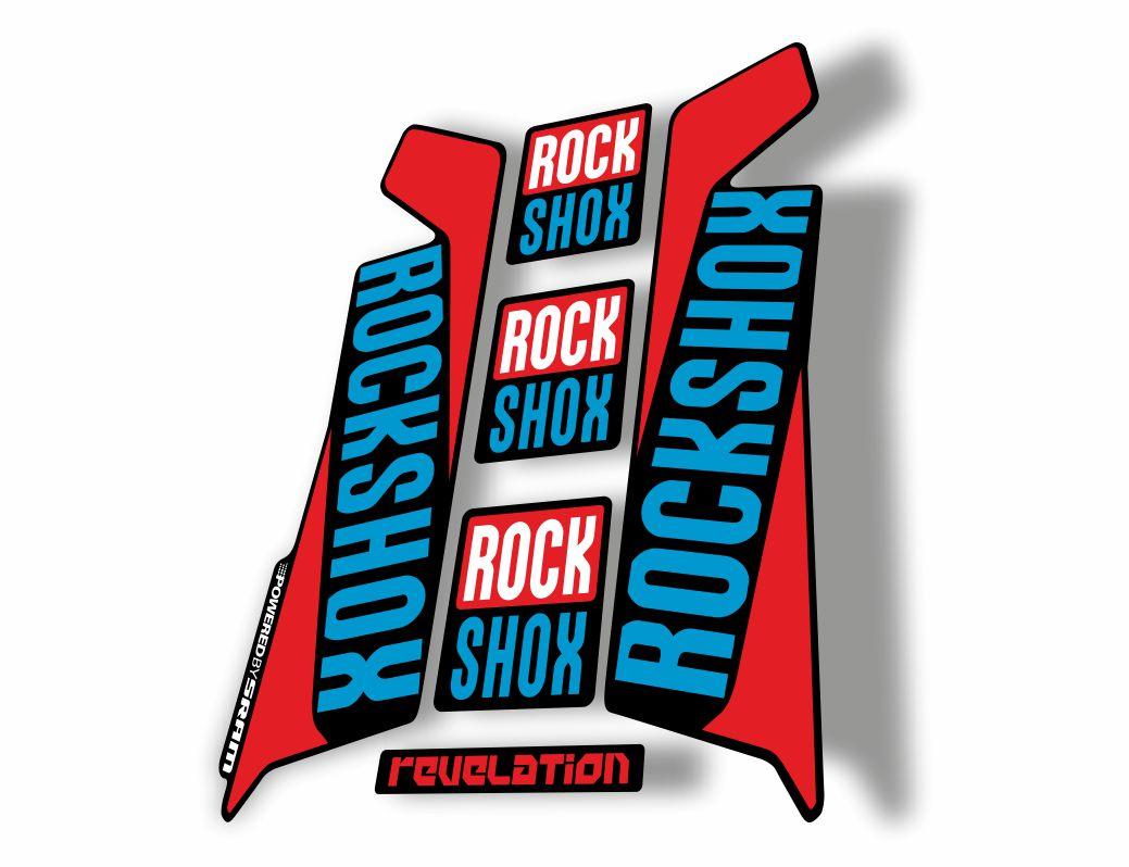 Rock Shox REVELATION 2016 Mountain Bike Cycling Decal Kit Sticker L Green Pink
