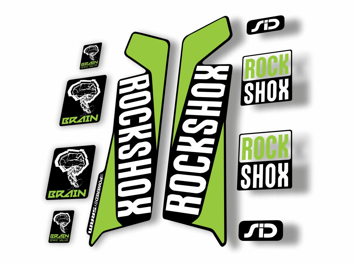 Rock Shox SID Brain 2015 Mountain Bike Cycling Decal Sticker Adhesive Gray