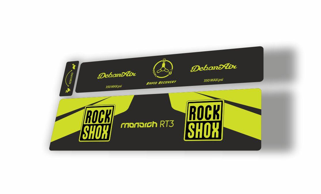 Rock Shox MONARCH Plus RC3 Debon Air Rear Shock Decal Sticker Adhesive Green