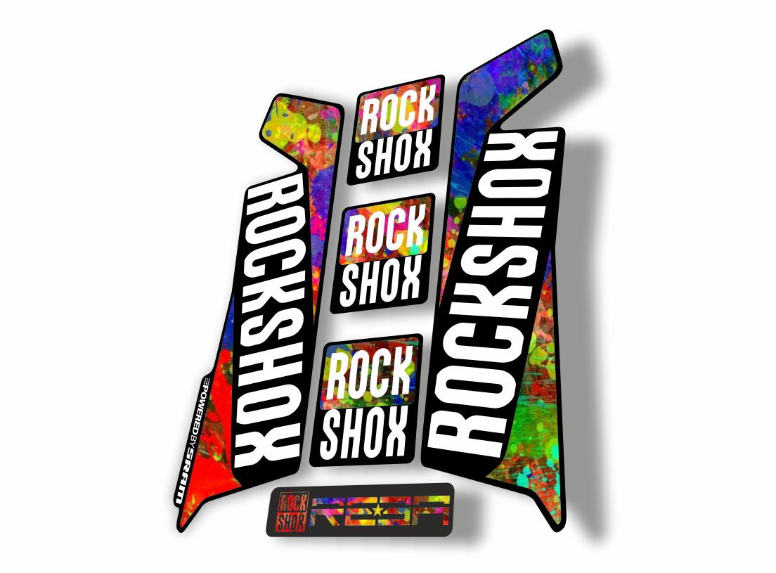 Rock Shox REVELATION 2016 Mountain Bike Cycling Decal Kit Sticker Oil Slick