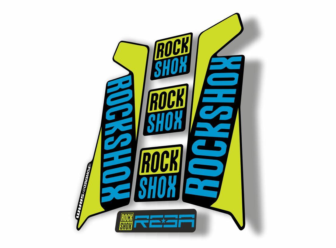 Rock Shox REBA 2016 Fork Decal Mountain Bike Cycling Sticker Adhesive Yellow