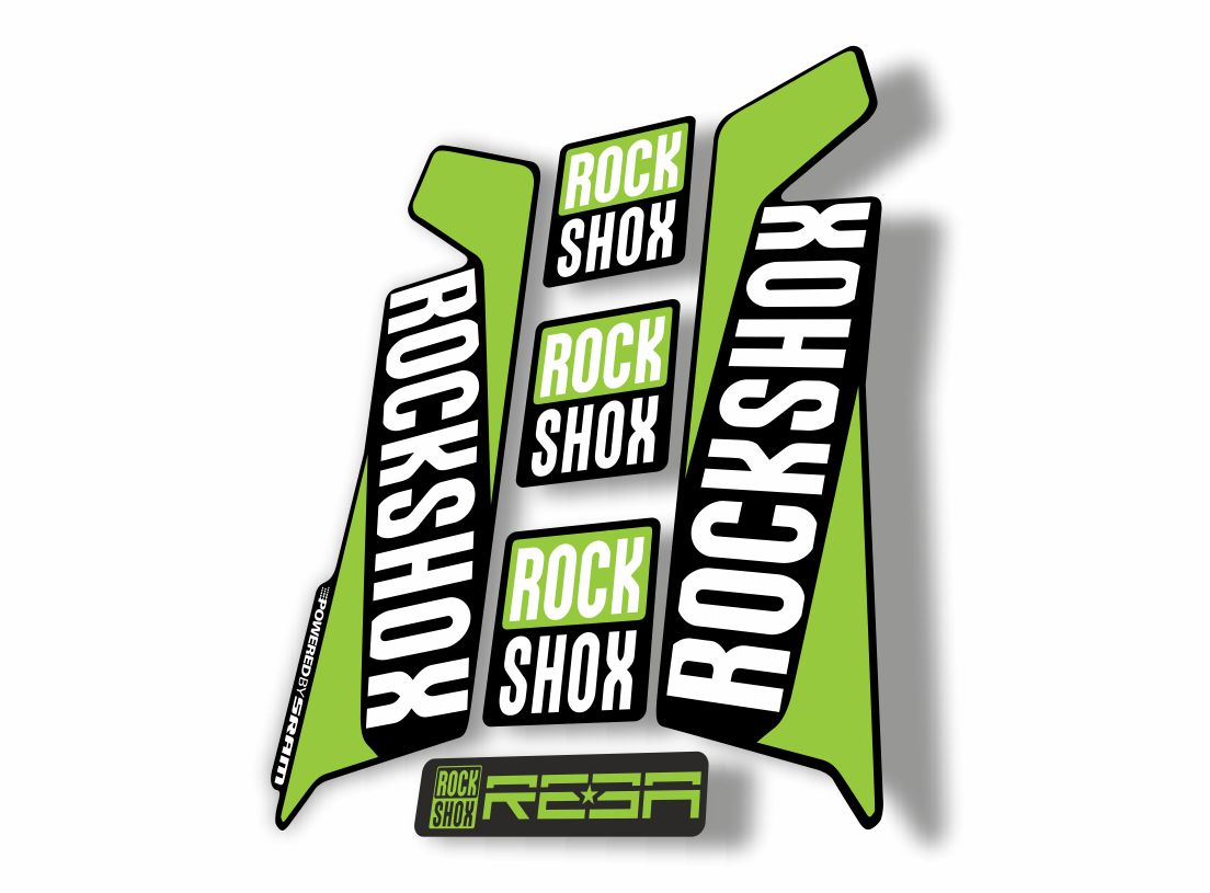 Rock Shox Reba Bicycle Forks Decals Stickers Graphic Set Vinyl Logo Adhesive