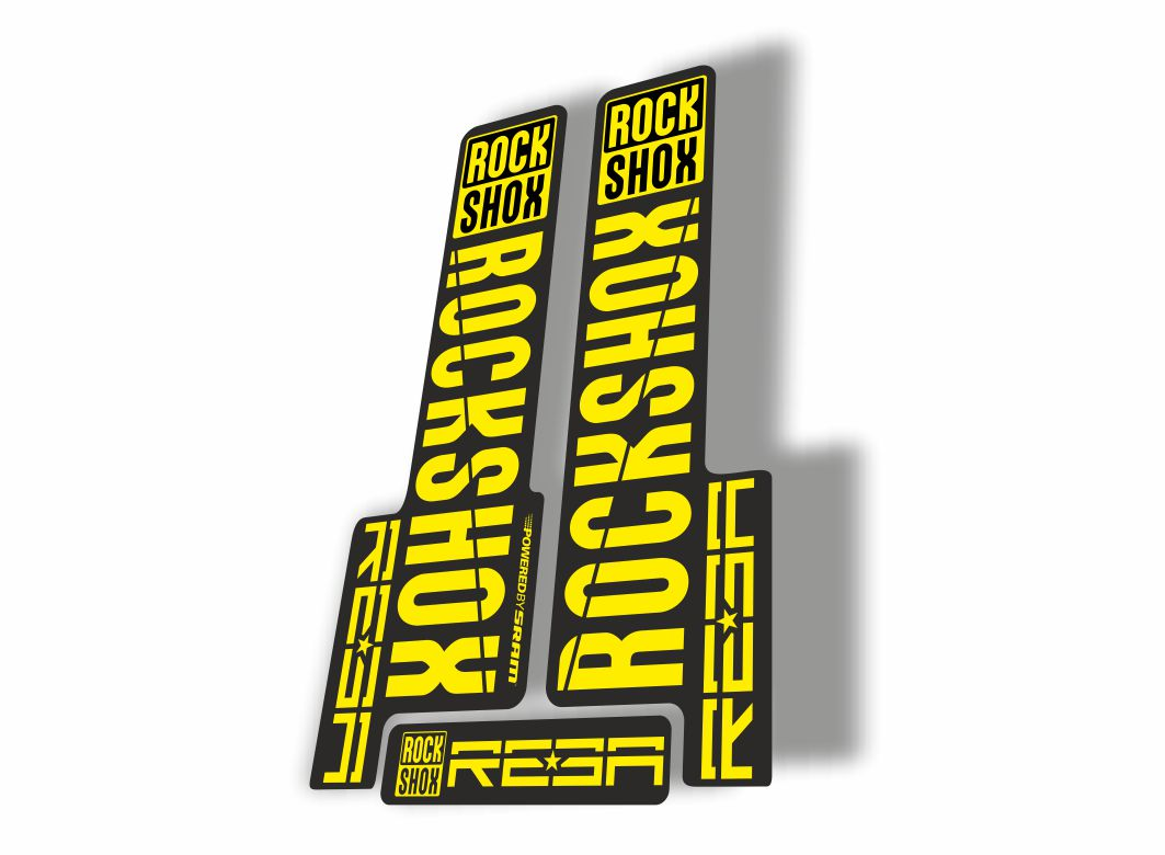 Rock Shox REBA 2015-17 Fork Decal Mountain Bike Cycling Sticker Adhesive Green