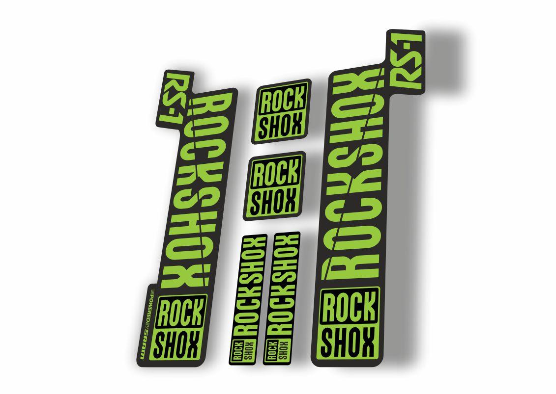 3 Colour Designer Pack RockShox SEKTOR 2017 2018 Style Stickers Decals