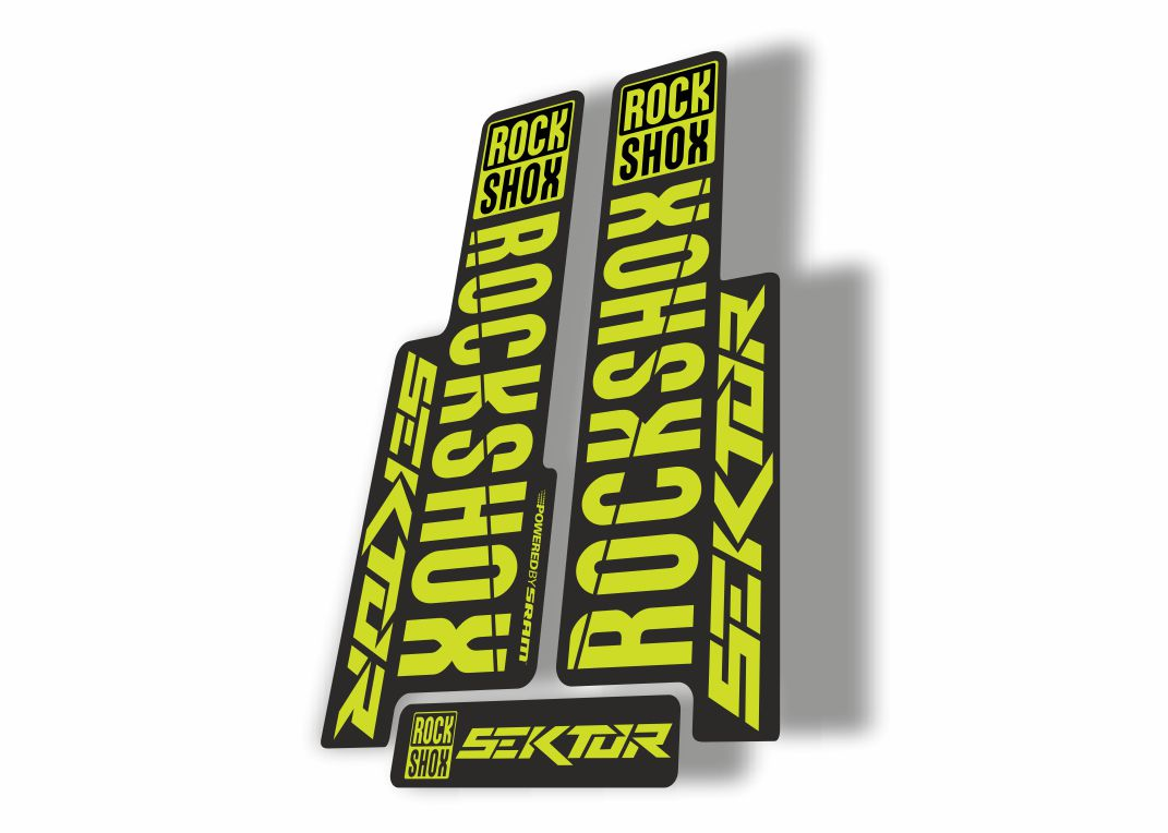 Rock Shox SEKTOR 2018 Fork Decal Mountain Bike Cycling Sticker Adhesive L Green