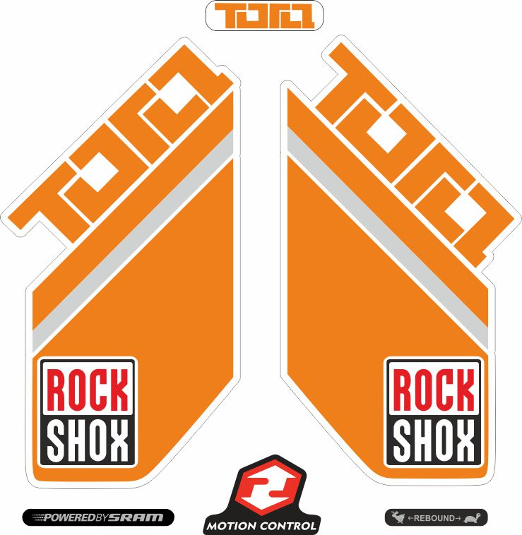 Rock Shox PIKE 2014 Mountain Bike Cycling Decal Kit Sticker Adhesive Orange