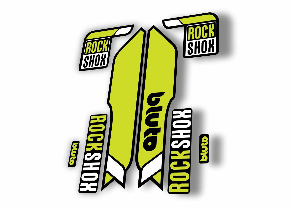 Rock Shox BLUTO 2016-17 Mountain Bike Cycling Fork Decal Kit Sticker Orange Gray