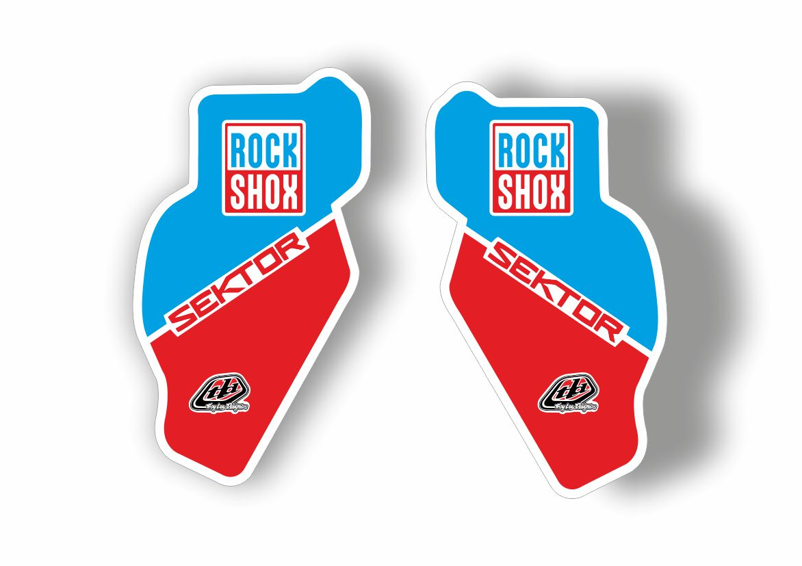 Rock Shox SEKTOR 2018 Fork Decal Mountain Bike Cycling Sticker Adhesive Blue