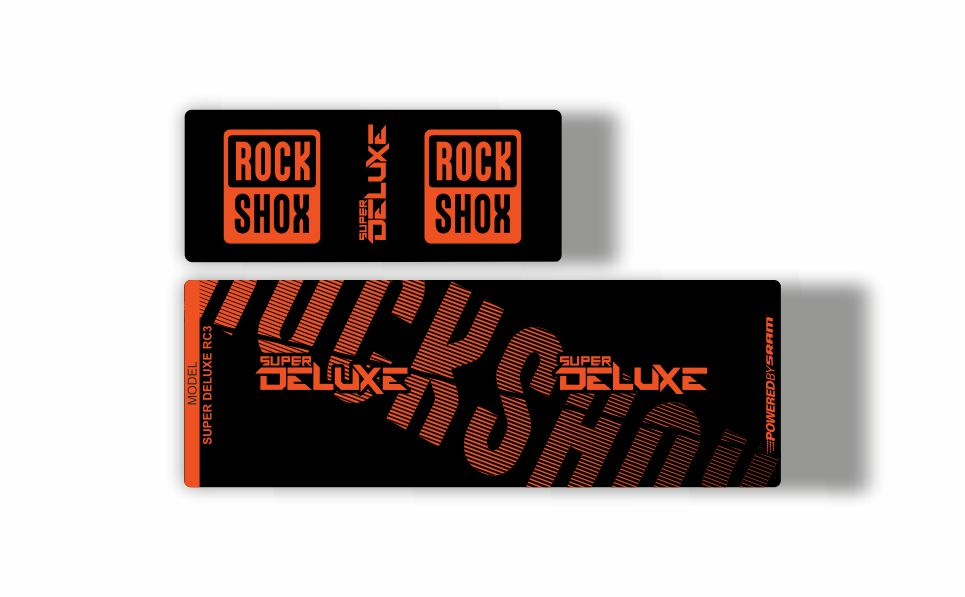 Rock Shox Super Deluxe 2017 Style Reproduction Shock Decals